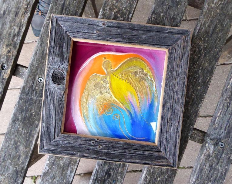 Holzbild von Christine Gova