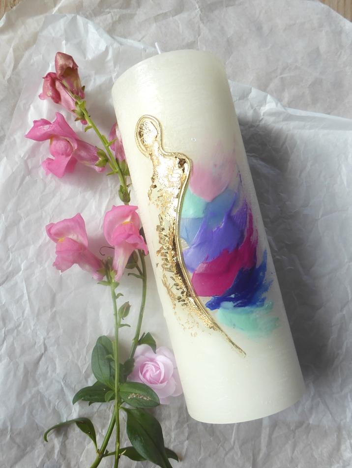 Wunderschöne Engelkerze von Christine Gova