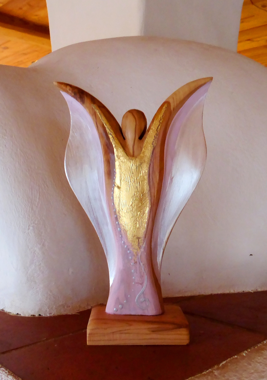 Wunderschöner Holzengel von Christine Gova