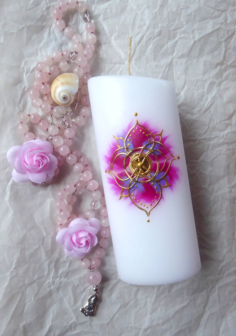 Kleine Mandala Kerze
