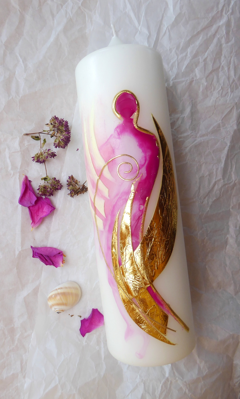 Kerzenkunst von Christine Gova. Engelkerzen für Herz und Seele